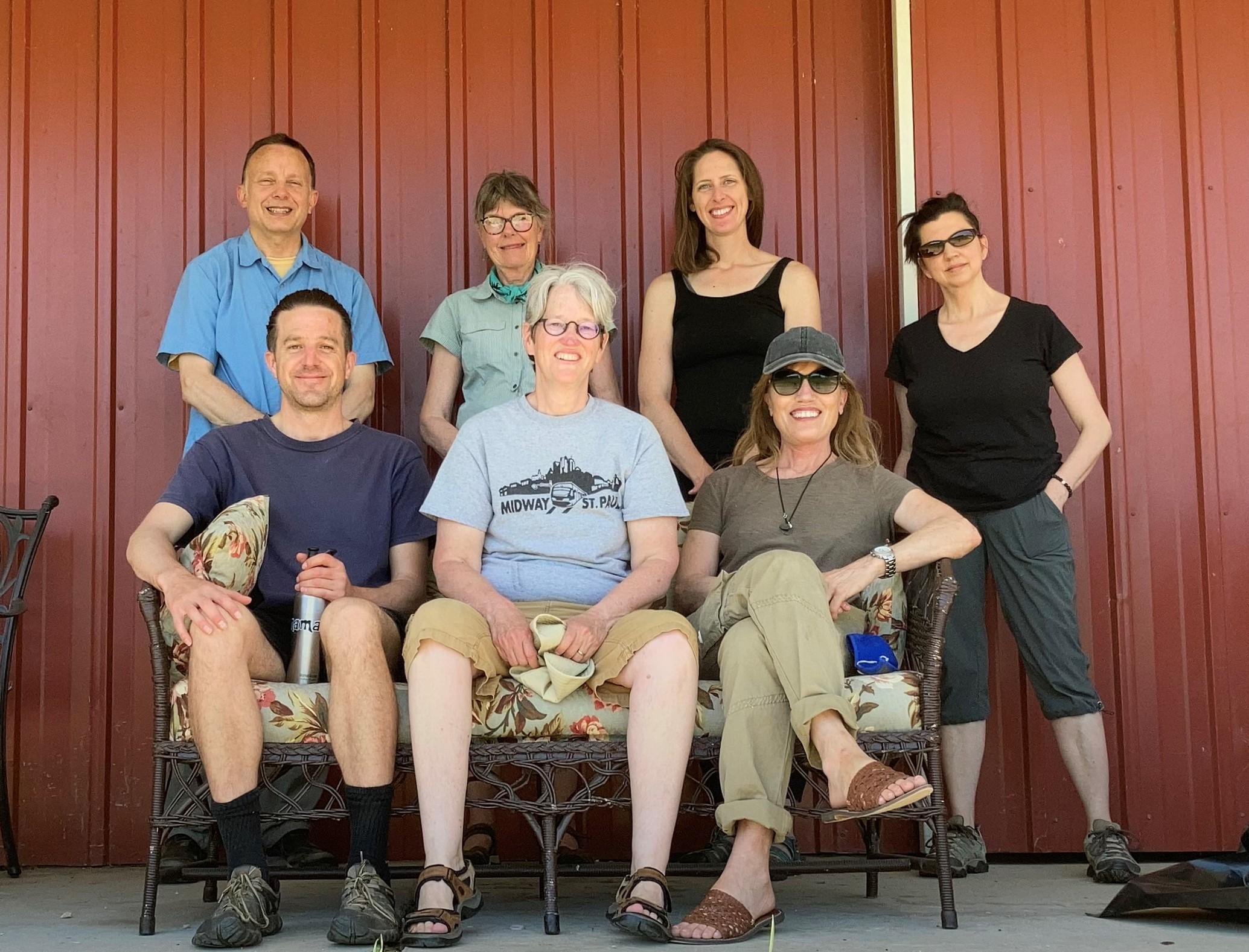 photo of7 work retreatants looking happy